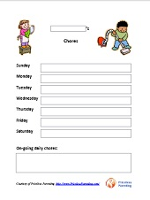 image about Free Printable Chore Chart Ideas called Totally free Printable Charts for Little ones and Dad and mom - A must have Parenting