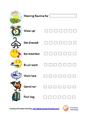 Monster image throughout morning routine printable