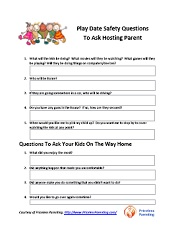 play date safety questions