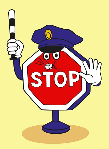 stop sign police
