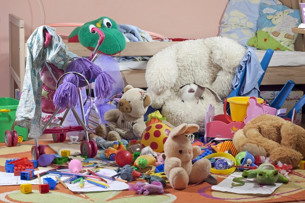 messy children's room