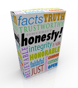 box of honesty words
