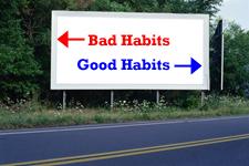 good habits versus bad habits sign