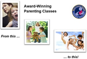 happy family after taking online parenting classes