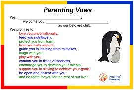 picture of parenting vows - WE version
