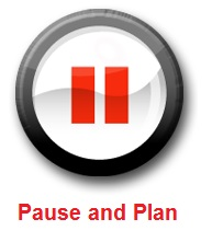 pause and plan icon