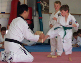 breaking board in TaeKwonDo